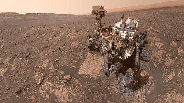 Este es el selfie de Curiosity.