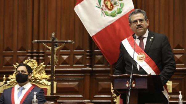 Palacio de Gobierno informó que al mediodía Manuel Merino ofrecerá un Mensaje a la Nación tras las muertes de dos jóvenes en la segunda Marcha Nacional.