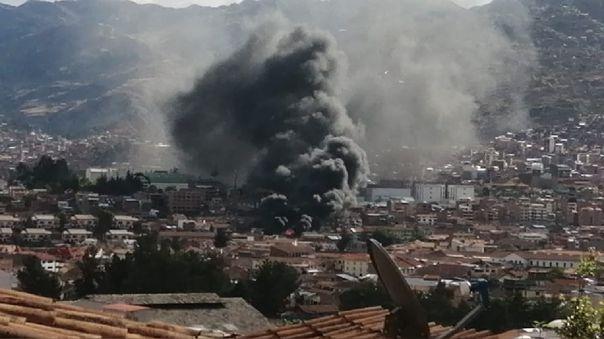 Incendio en Cusco