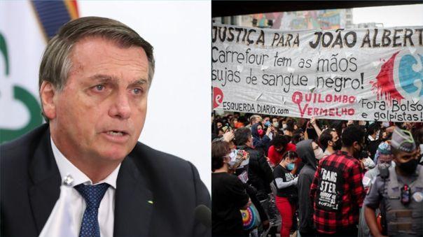 El mandatario emitió un mensaje contra la ola de protestas que vive el país por un acto de racismo.