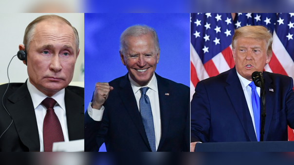 Vladimir Putin, Joe Biden y Donald Trump
