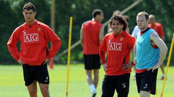 Cristiana, Tévez y Rooney, el tridente de Manchester United en 2008