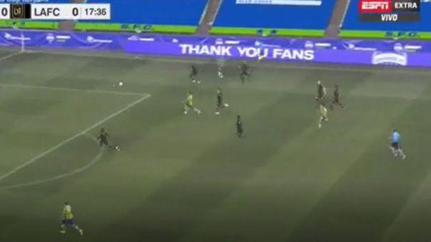 El pase de Raúl Ruidíaz para gol del Sounders vs. Los Angeles FC.