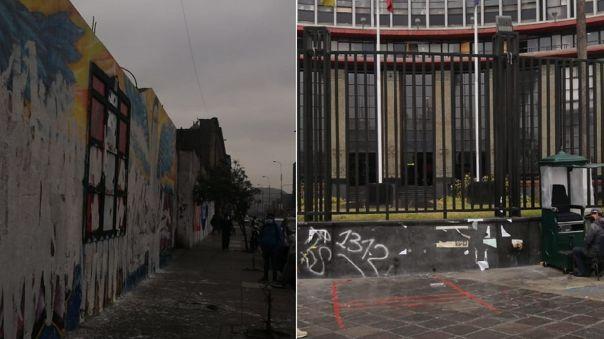 Murales y manifestaciones fueron atentados por desconocidos.