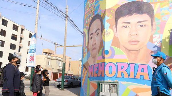 Mural se encuentra en una zona de la fachada del coliseo deportivo Aldo Chamochumbi.
