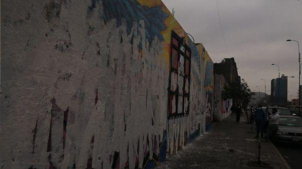 Atentaron contra mural en homenaje a Inti Sotelo y Bryan Pintado.