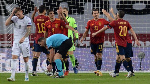 Alemania fue goleada 6-0 por España en la Liga de Naciones