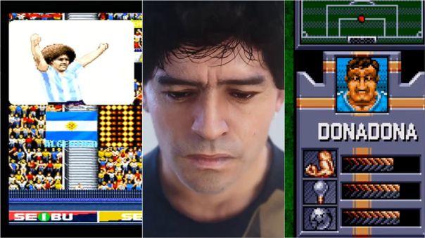Leyenda: Maradona apareció en varios videojuegos.