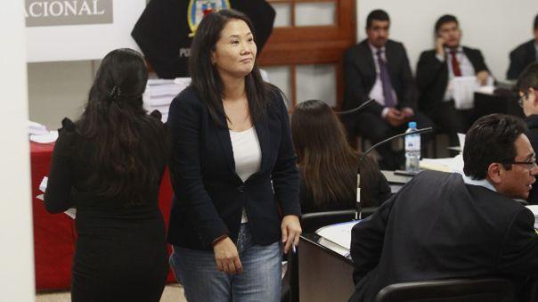 Keiko Fujimori se pronuncia sobre la situación legal de su partido.