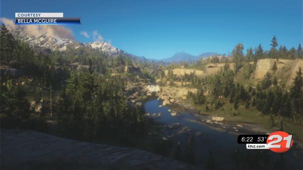 Hermoso paisaje en Red Dead Redemption 2.