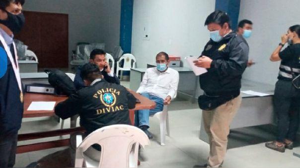 Gobernador regional de Ancash fue detenido por presuntos actos de corrupción.