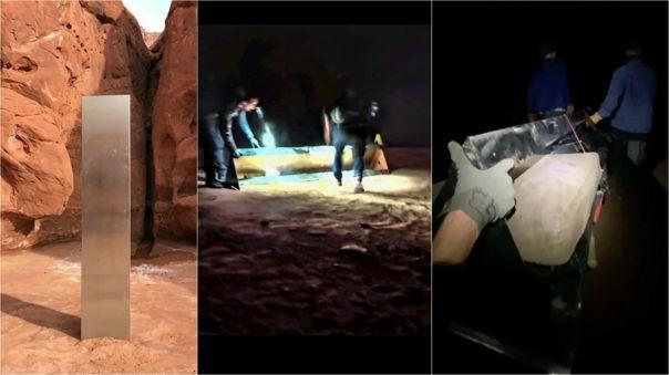 Un video muestra el retiro del monolito en Utah.