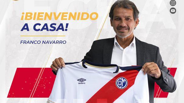 Franco Navarro dirigirá a Deportivo Municipal en el 2021