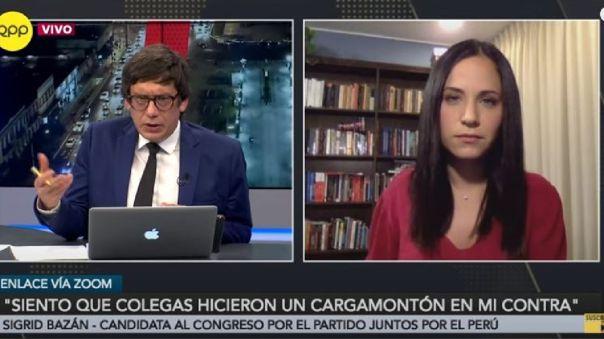 Sigrid Bazán postulará al Congreso por el partido de Juntos por el Perú de Verónika Mendoza.