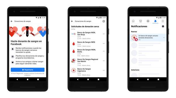 Las notificaciones para pedidos de sangre se realizarán desde la aplicación para teléfonos y web