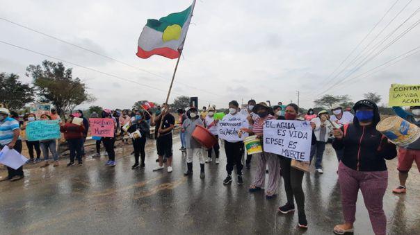 Pobladores suspenden sus protestas después de tres días de reclamos en en el distrito de Pacora, exigiendo agua de calidad para sus hijos.