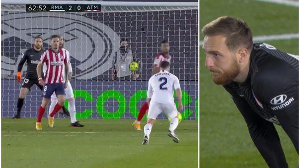 Jan Oblak en contra colocó el 2-0 del Real Madrid sobre el Atlético