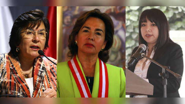 Marianella Ledesma, Elvia Barrios y Mirtha Vásquez