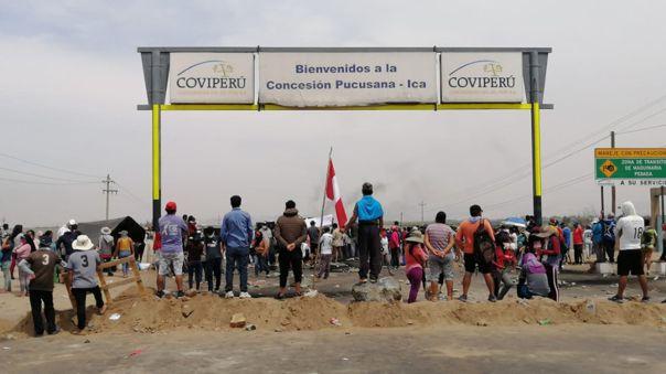 Manifestantes llegaron hasta la zona conocida como