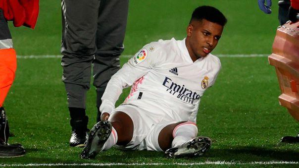 Rodrygo se lesionó durante el partido ante Granada por LaLiga
