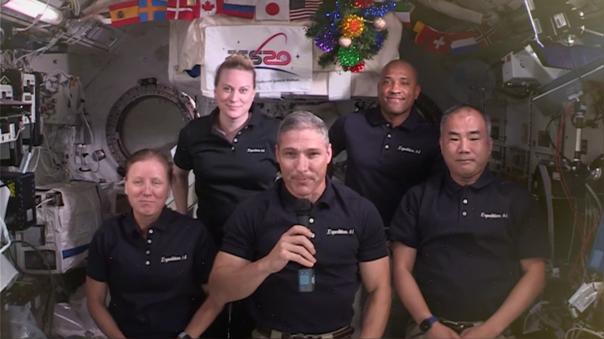 La Misión 64 de la ISS y su mensaje navideño