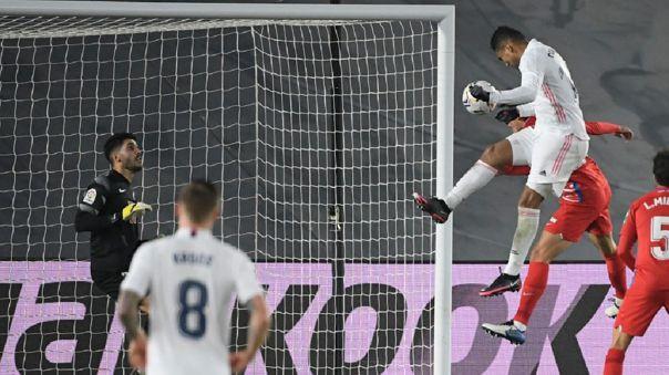 Casemiro anotó el 1-0 del Real Madrid sobre Granada
