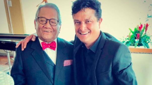 Armando Manzanero y su hijo Juan Pablo
