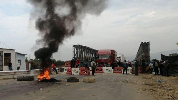 Protesta en Virú