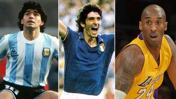 Maradona, Rossi y Bryant