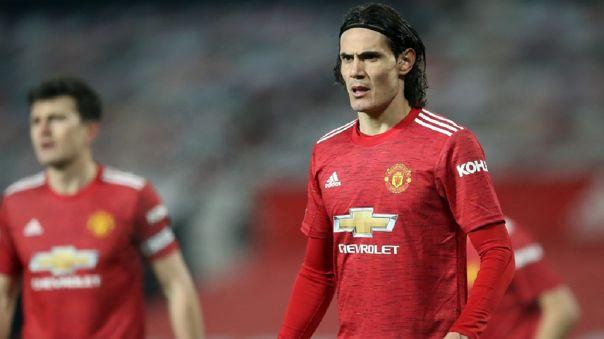 Edinson Cavani fue suspendido con tres partidos sin jugar por Manchester United