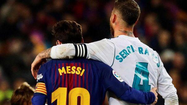 Messi y Ramos son los capitanes del Barcelona y Real Madrid, respectivamente