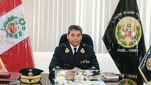 Comandante general de la Policía Nacional, César Augusto Cervantes Cárdenas.