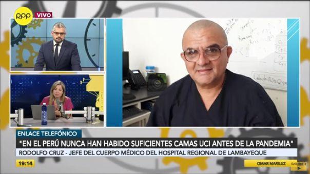 El doctor Rodolfo Cruz se encuentra aislado, pues contrajo la COVID-19 desde hace más de dos semanas.
