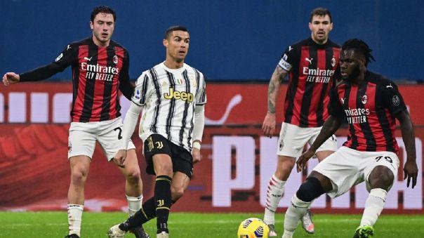 Juventus visita al líder AC Milan por la fecha 16 de la Serie A
