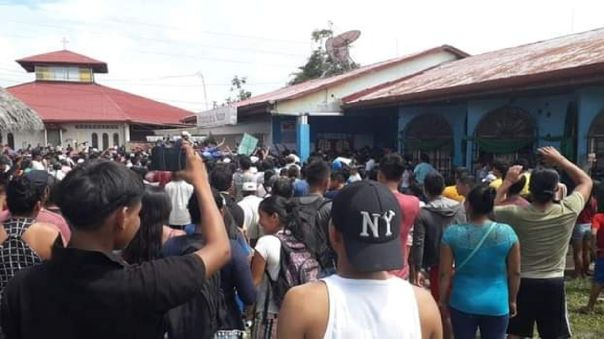 Pobladores intentaron tomar la municipalidad de San Pablo.