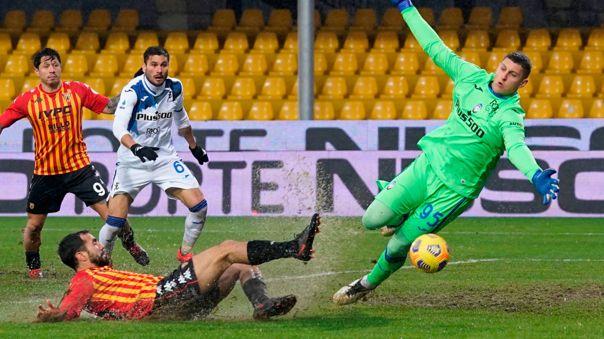 Benevento fue goleado en casa 1-4 por Atalanta en la fecha 17 de la Serie A