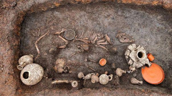 Hallazgo arqueológico en Francia