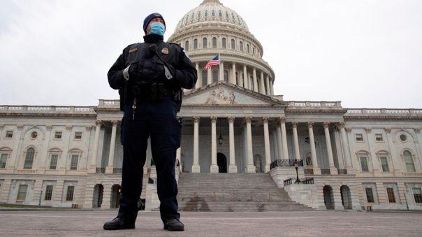 Cierran el Capitolio por amenaza