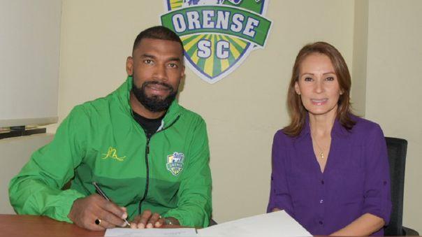 Gabriel Achilier fue anunciado como refuerzo de Orense SC de Ecuador