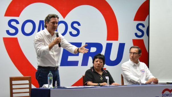 Daniel Salaverry, postulante a la Presidencia de la República por Somos Perú.