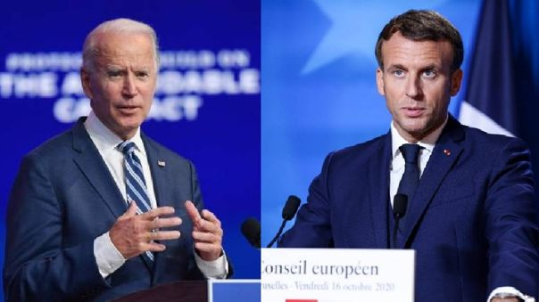 Macron y Biden conversaron vía telefónica