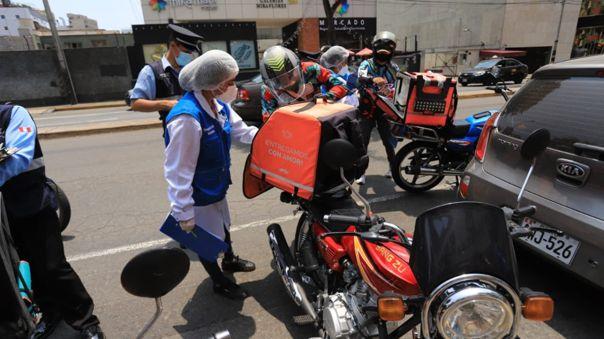 Sesenta conductores de motos delivery fueron intervenidos en Miraflores | RPP Noticias
