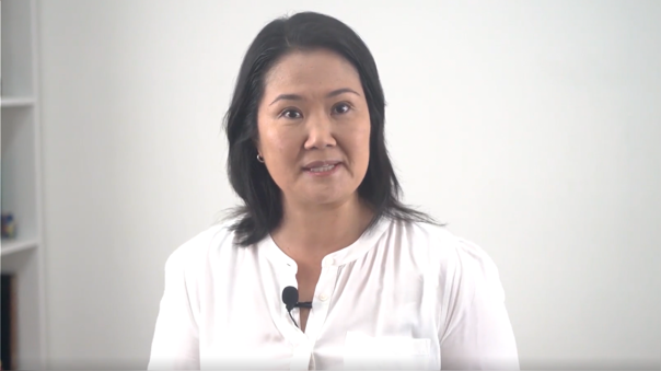 Keiko Fujimori presenta su campaña presidencial