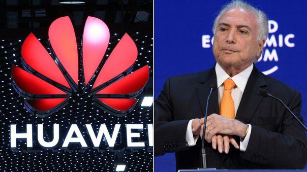 Michel Temer ayudará a Huawei en un proceso de licitación clave.