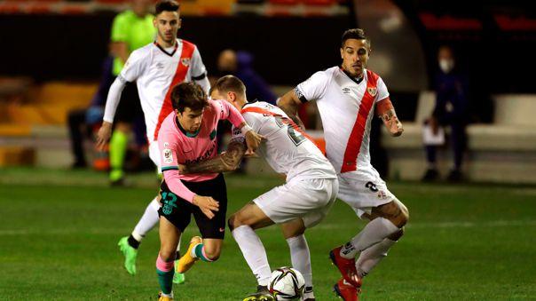 Barcelona y Rayo Vallecano se enfrentan por la Copa del Rey