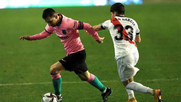 Messi fue titular en el Barcelona vs. Rayo por Copa del Rey.