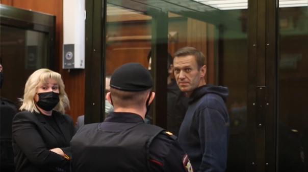 Alexéi Navalny, hoy en un Tribunal de Moscú