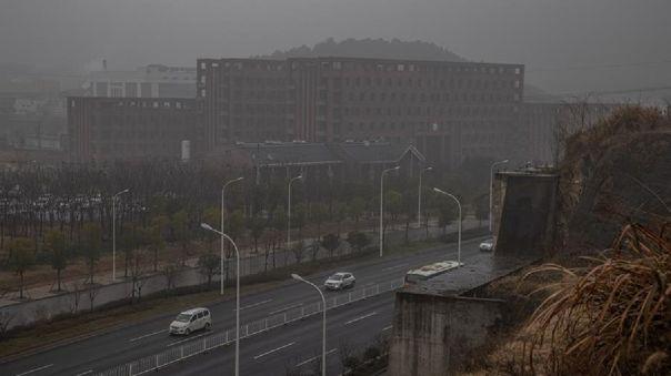 Edificio del Instituto de Virología de Wuhan, China.