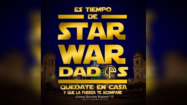 Mensaje inspirado en la película de Star War.