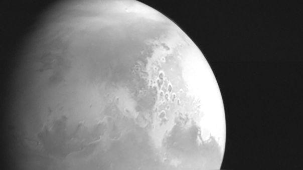 La imagen fue tomada a unos 2.2 millones de kilómetros de Marte.